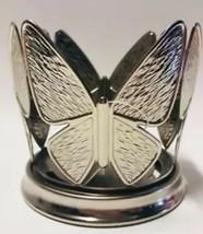 Bath & Body Works Texturiert Silber Schmetterling Mittelgroß / Einzeln Docht - $7.67