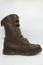 DR. MARTENS Aimilita Womens Boots Dark Brown Darkened Mirage Size 11 NEW  - $85.49