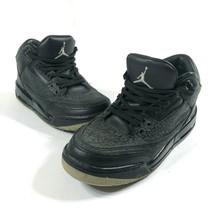 Nike Boys 6.5Y Air Jordan 3 III Retro GS Flip Black Cement Gray Shoes 31... - $46.75