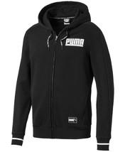 Puma Athletics Mens Full Zip Hoodie Sweatshirt Hooded Top Jacket 850040-01 Black - $44.12
