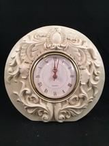 CASA ELITE Quartz Table Clock - M. VALENTI - Iv... - $28.04