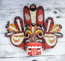 "Asian Handmade Wooden Traditional Decorative Cobra Mask 8"" Wall Hanging ... - $23.27"