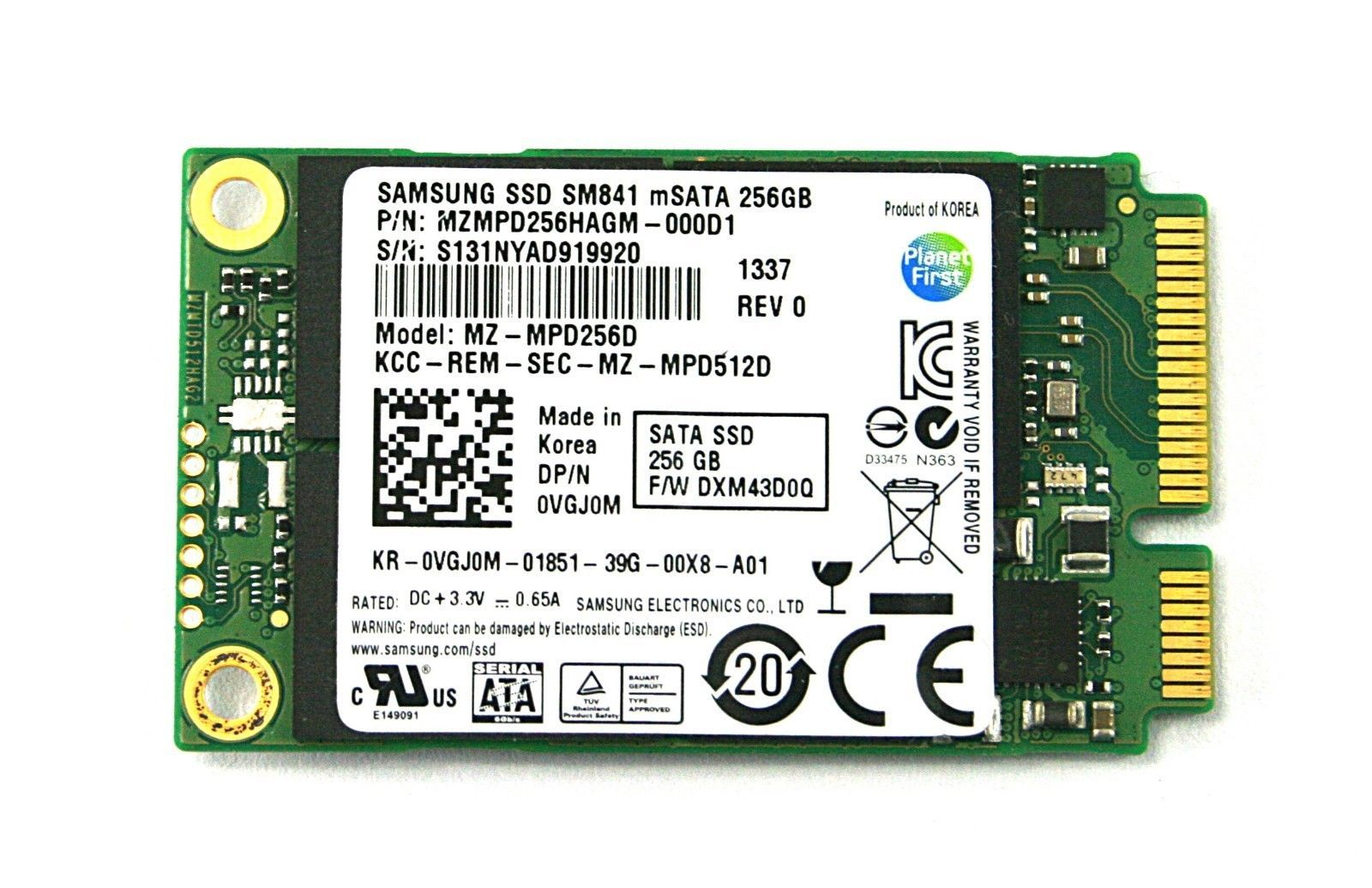 Primary image for Samsung 256GB SSD  MZMPD256HAGM-000D1