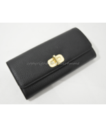 NWT MICHAEL Michael Kors Sullivan Large Carryall Leather Wallet in Black - $139.00