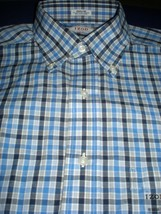 IZOD New Dress Shirt 15 32 33 Button Down Collar Blue White EOC  Winkle ... - $24.99
