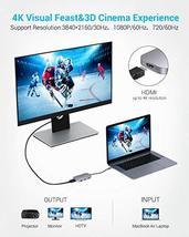 USB C Hub, Type C Hub EUASOO 8 in 1 Adapter with 4K HDMI, 3 USB 3.0 Ports, USB 2 image 3