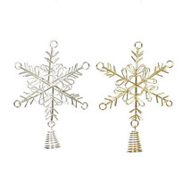 Darice Christmas Snowflake Tree Topper: Wire, 3.54 x 4.72in, 2 Asst Colo... - $6.99