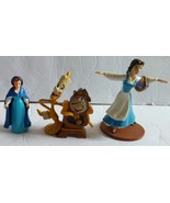 Lot of 3 Disney's  Beauty And The Beast  Belle Action Figures, Cake Topp... - $11.61