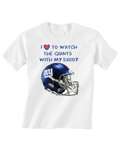 New York  Giants Toddler T-Shirt Love Watching With Daddy Tshirt Helmet ... - $15.00