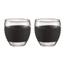 Set 2pc Bodum 3-Ounce Pavina Mug Glasses with Silicone Grip Bar Glasswar... - $19.99+