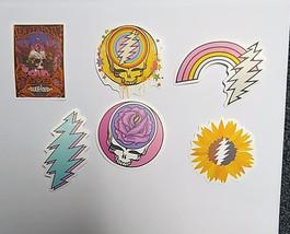 6 Sticker Set  Grateful Dead Bolt Vinyl Stickers  Deadhead Water Bottle Laptop - $7.99