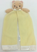 Gerber Baby Blanket Yellow White Bear Pink Ears Security Fleece Satin Trim - $22.83 CAD