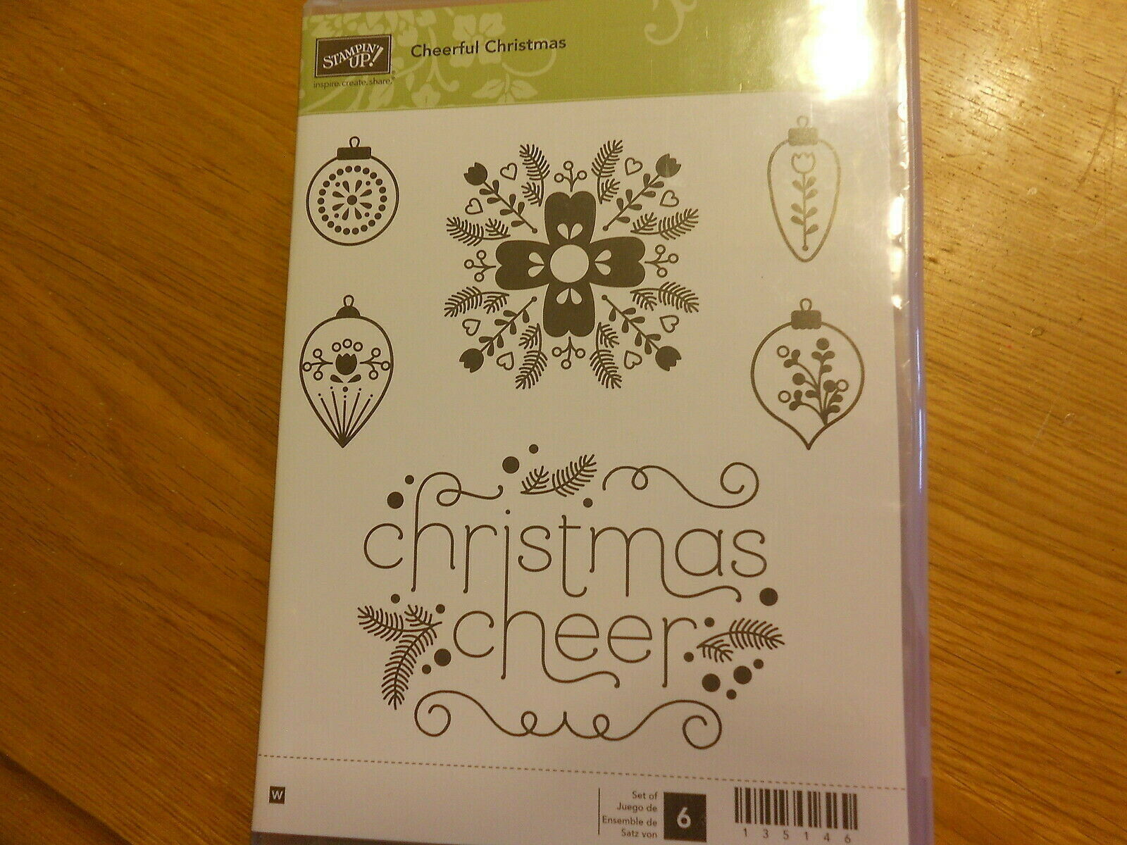 Primary image for Stampin Up Stamp Set (new) CHEERFUL CHRISTMAS (set of 6)