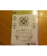 Stampin Up Stamp Set (new) CHEERFUL CHRISTMAS (set of 6) - $30.63