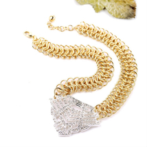 Pop Brightly Color Dress Accessories Hot Sale All Match Chunky Chain Nec... - $14.98