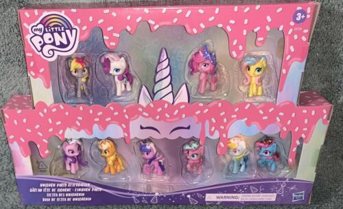 Primary image for UNICORN PARTY CELEBRATION My Little Pony 10 MINI Pack DAZZLE CAKE Cadance NEW