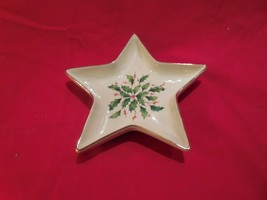 "Lenox 24K Gold trimmed ""Holiday"" 7 1/2""  Christmas Star BonBon/Candy Dish - $19.75"