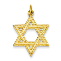 925 Sterling Silver & 24k Gold-plated Star of David Textured Charm Pendant - $34.69