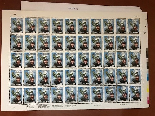 Primary image for USA United States Eddie Rickenbacker sheet mnh 1996     stamps