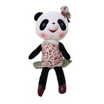 George Jimmy Creative Panda Dolls Lovely Animal Stuffed Toys Girl Gift, Green - $30.55