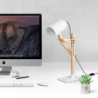 Tomons Multi-angle Swing Arm Desk Lamp Industrial style For Design Office, White