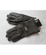 UGG Gloves Tech Smart Leather Whip Stitch Brown Large - $123.74