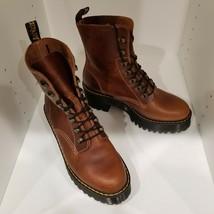 Dr. Martens Leona 7-Eye Hiker Boot Women's Butterscotch Orleans Leather Size 9 - $149.99