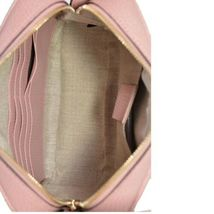 NEW Gucci Beige Pink GG Guccissima Leather Bree Crossbody Camera Shoulder Bag image 6