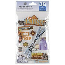 "Paper House 3D Stickers 4.5""X7.5"" -Skiing - (L-3) - $7.46"