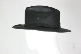 Henschel hat co leather M black fedora cowboy mint made in usa - $40.00