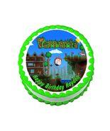 Terraria Gaming Round Edible Cake Image Cake Topper - $8.98+