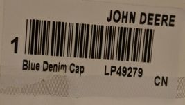 John Deere LP49279 Adjustable Black Stone Wash Denim Leaping Deer Logo image 10