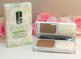 New Clinique Acne Solutions Powder Face Makeup #18 Sand M-N .35 oz /10 g Full Sz - $12.99