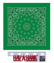 USA MADE Hav-A-Hank KELLY GREEN PAISLEY Bandana BANDANNA SCARF Scarve He... - $5.99