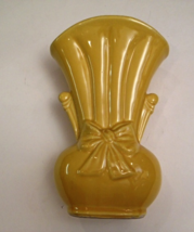 Vintage Shawnee Sunny-Yellow Vase with an Embossed Bow Knot, 919 - $18.00