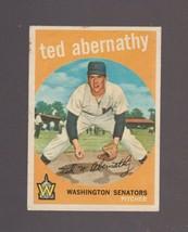 1959 Topps Baseball Card # 169 Ted Abernathy Washington Senators VG - $0.99