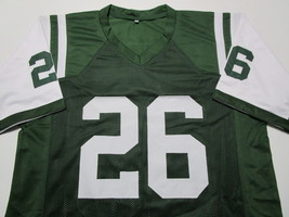 LE'VEON BELL / AUTOGRAPHED NEW YORK JETS GREEN CUSTOM FOOTBALL JERSEY / COA image 2