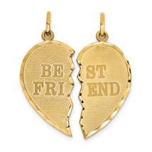 14K Yellow Gold Best Friend 2-Piece Charm (Length=29) (Width=22) [C369]