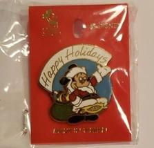 Vtg Disney Trading Pin Santa Mickey Mouse Enamel Happy Holidays 1996 Christmas - $24.73