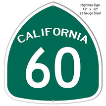 60 Highway Laser Cut Out Reproduction Metal Sign 12x12 - $27.72