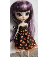 Halloween Candy Corn Pullip Momoko Jenny doll size hand made dress - $19.97