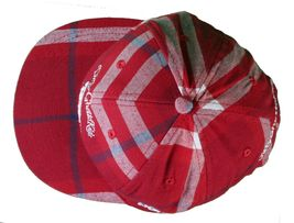 DGK Burgundy Red Plaid For Those Who Come From Nothing Snapback Baseball Hat Cap image 6