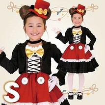 Disney Gothic Mickey Kids costume girl 100cm-120cm 95078S from Japan New - $112.00