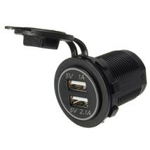 Car 2.1A Dual USB Socket Plug Charger Power Ada... - $6.02