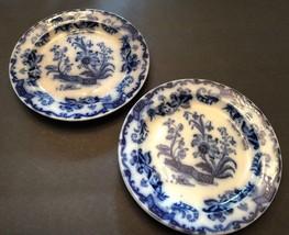 "Antique Flow Blue 7 1/4"" Plates Marked Pekin  Set of 2 Plates Beautiful ... - $49.45"