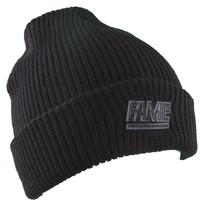 Hall of Fame Mens 2nd Sucks Black Knit Cuff Fold Skate Beanie Winter Ski Hat NWT