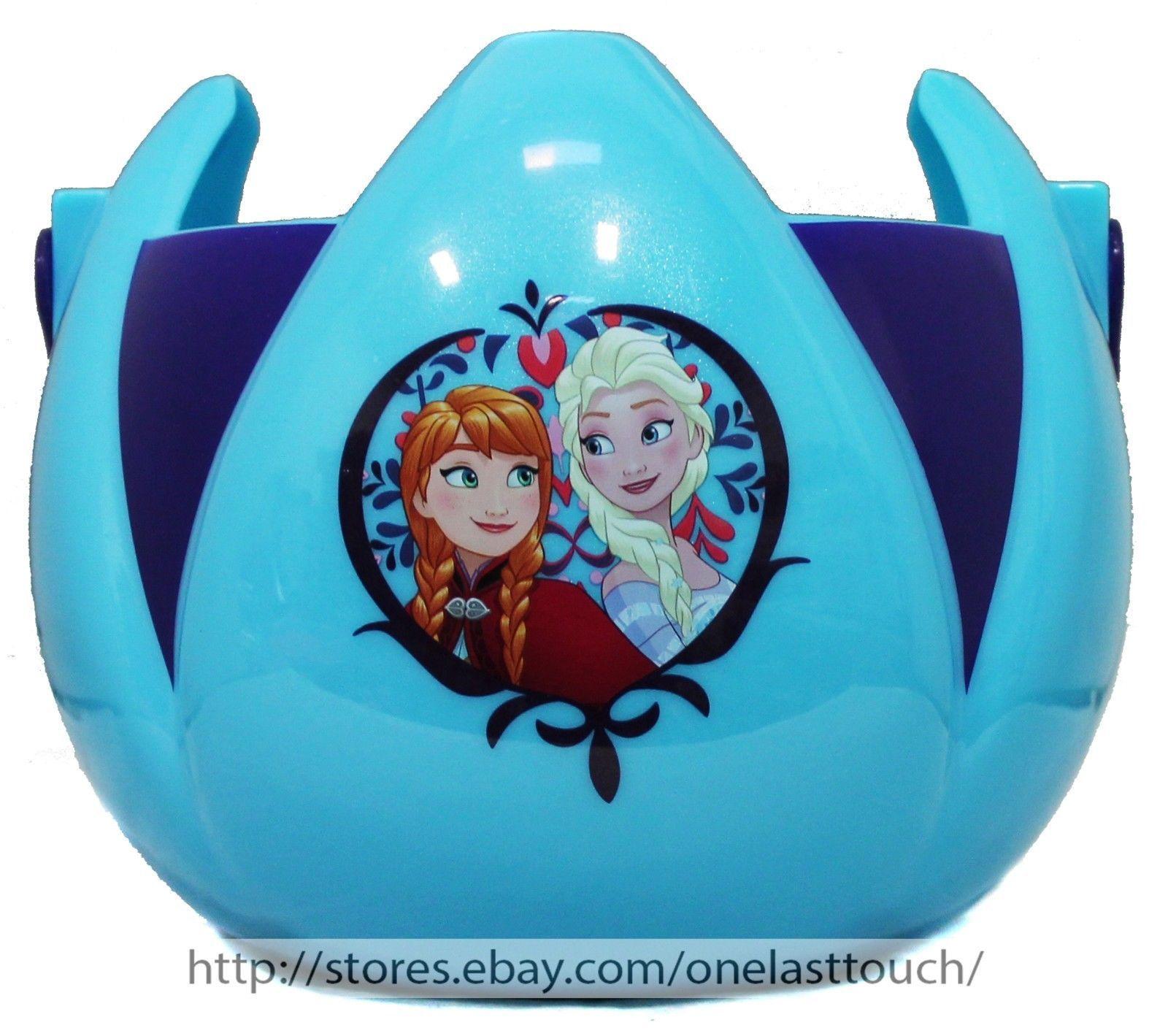 PTI*Candy Basket DISNEY FROZEN Hard Plastic EASTER/HALLOWEEN Light Blue+Navy 1/9