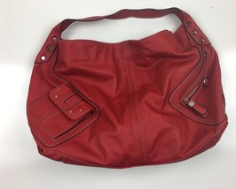 Womens Nine West Burgundy Red Hobo Shoulder Bag Handbag Purse With Front Zipper - $29.98