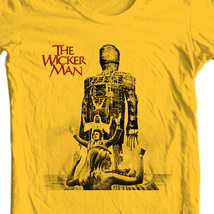 The wicker man original movie t shirt for sale online store graphic gold tee thumb200