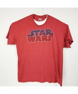 Vintage STAR WARS Men's Spell Out XXL T-Shirt Red EUC Classic - £13.80 GBP